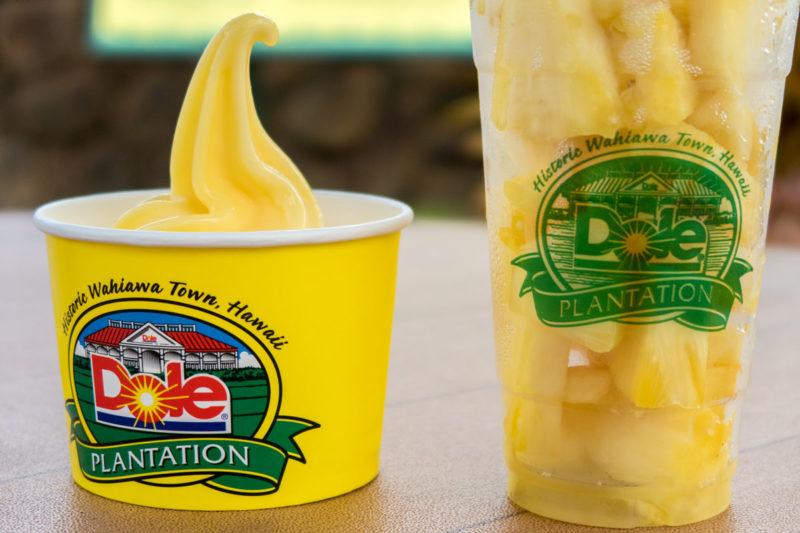 ドールプランテーションのアイスとパイナップル