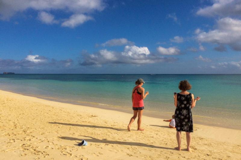 オアフ島のラニカイ・ビーチ
